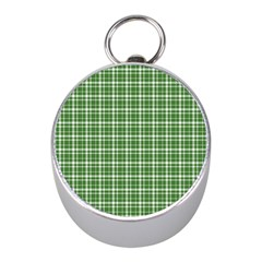St  Patricks Day Plaid Pattern Mini Silver Compasses by Valentinaart