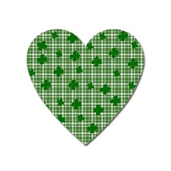 St  Patrick s Day Pattern Heart Magnet by Valentinaart