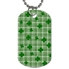 St  Patrick s Day Pattern Dog Tag (one Side) by Valentinaart