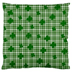 St  Patrick s Day Pattern Large Flano Cushion Case (one Side) by Valentinaart