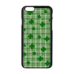 St  Patrick s Day Pattern Apple Iphone 6/6s Black Enamel Case by Valentinaart