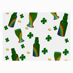 St  Patricks Day  Large Glasses Cloth (2 Side) by Valentinaart