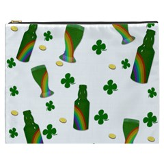 St  Patricks Day  Cosmetic Bag (xxxl)  by Valentinaart