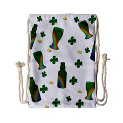 St  Patricks Day  Drawstring Bag (small) by Valentinaart