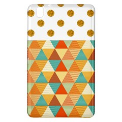 Golden Dots And Triangles Pattern Samsung Galaxy Tab Pro 8 4 Hardshell Case by TastefulDesigns
