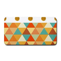 Golden Dots And Triangles Patern Medium Bar Mats by TastefulDesigns