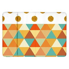 Golden Dots And Triangles Patern Samsung Galaxy Tab 8 9  P7300 Flip Case by TastefulDesigns
