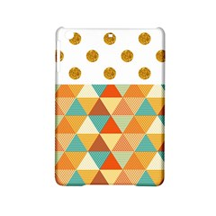 Golden Dots And Triangles Patern Ipad Mini 2 Hardshell Cases by TastefulDesigns