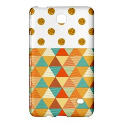 Golden Dots And Triangles Patern Samsung Galaxy Tab 4 (8 ) Hardshell Case  by TastefulDesigns