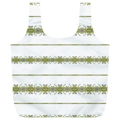 Ethnic Floral Stripes Full Print Recycle Bags (l)  by dflcprints