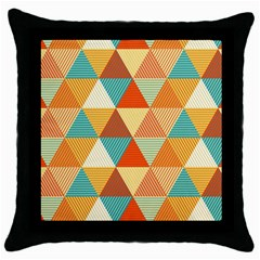 Triangles Pattern  Throw Pillow Case (black) by TastefulDesigns