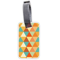 Triangles Pattern  Luggage Tags (two Sides) by TastefulDesigns