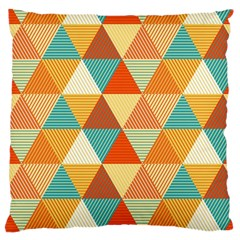 Triangles Pattern  Large Cushion Case (two Sides)