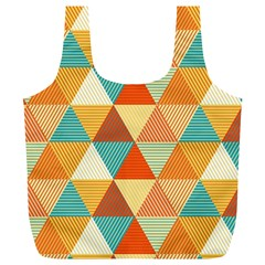 Triangles Pattern  Full Print Recycle Bags (l)