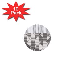 Lines And Stripes Patterns 1  Mini Buttons (10 Pack)  by TastefulDesigns
