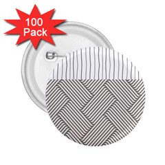 Lines And Stripes Patterns 2 25  Buttons (100 Pack)  by TastefulDesigns