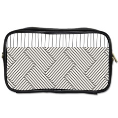 Lines And Stripes Patterns Toiletries Bags 2 Side by TastefulDesigns