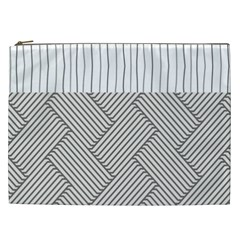 Lines And Stripes Patterns Cosmetic Bag (xxl)  by TastefulDesigns