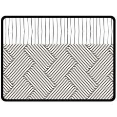 Lines And Stripes Patterns Double Sided Fleece Blanket (large)  by TastefulDesigns