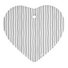 Hand Drawn Lines Pattern Heart Ornament (two Sides) by TastefulDesigns