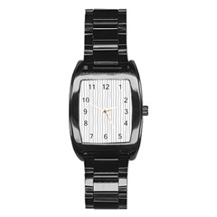 Hand Drawn Lines Pattern Stainless Steel Barrel Watch by TastefulDesigns