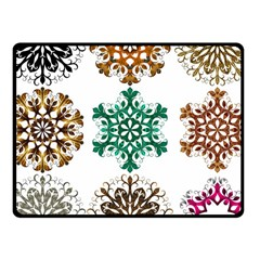 A Set Of 9 Nine Snowflakes On White Fleece Blanket (small) by Amaryn4rt