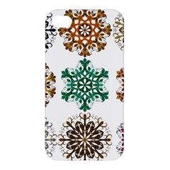 A Set Of 9 Nine Snowflakes On White Apple Iphone 4/4s Premium Hardshell Case by Amaryn4rt