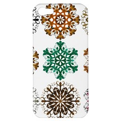 A Set Of 9 Nine Snowflakes On White Apple Iphone 5 Hardshell Case by Amaryn4rt