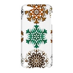 A Set Of 9 Nine Snowflakes On White Apple Ipod Touch 5 Hardshell Case by Amaryn4rt