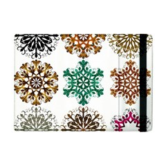 A Set Of 9 Nine Snowflakes On White Ipad Mini 2 Flip Cases by Amaryn4rt