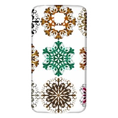 A Set Of 9 Nine Snowflakes On White Samsung Galaxy S5 Back Case (white) by Amaryn4rt