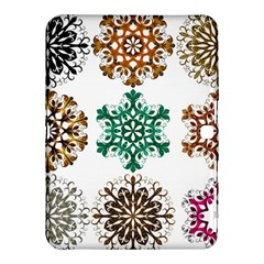 A Set Of 9 Nine Snowflakes On White Samsung Galaxy Tab 4 (10 1 ) Hardshell Case  by Amaryn4rt
