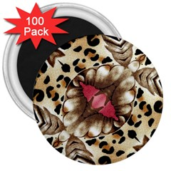 Animal Tissue And Flowers 3  Magnets (100 Pack)