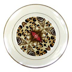 Animal Tissue And Flowers Porcelain Plates by Amaryn4rt