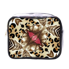 Animal Tissue And Flowers Mini Toiletries Bags by Amaryn4rt