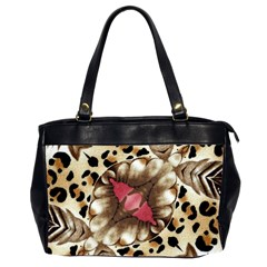 Animal Tissue And Flowers Office Handbags (2 Sides)  by Amaryn4rt