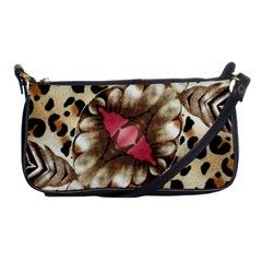 Animal Tissue And Flowers Shoulder Clutch Bags by Amaryn4rt