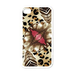 Animal Tissue And Flowers Apple Iphone 4 Case (white) by Amaryn4rt
