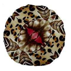 Animal Tissue And Flowers Large 18  Premium Round Cushions by Amaryn4rt
