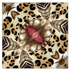 Animal Tissue And Flowers Large Satin Scarf (square) by Amaryn4rt