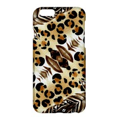 Background Fabric Animal Motifs And Flowers Apple Iphone 6 Plus/6s Plus Hardshell Case by Amaryn4rt