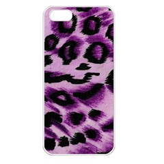 Background Fabric Animal Motifs Lilac Apple Iphone 5 Seamless Case (white) by Amaryn4rt