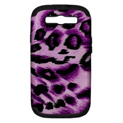 Background Fabric Animal Motifs Lilac Samsung Galaxy S Iii Hardshell Case (pc+silicone) by Amaryn4rt