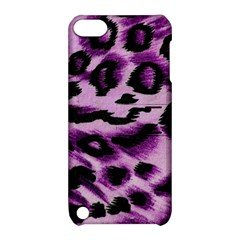 Background Fabric Animal Motifs Lilac Apple Ipod Touch 5 Hardshell Case With Stand by Amaryn4rt