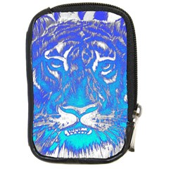Background Fabric With Tiger Head Pattern Compact Camera Cases by Amaryn4rt