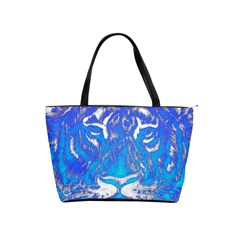Background Fabric With Tiger Head Pattern Shoulder Handbags by Amaryn4rt