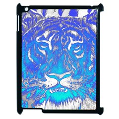 Background Fabric With Tiger Head Pattern Apple Ipad 2 Case (black) by Amaryn4rt