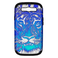 Background Fabric With Tiger Head Pattern Samsung Galaxy S Iii Hardshell Case (pc+silicone)