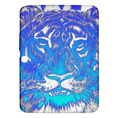 Background Fabric With Tiger Head Pattern Samsung Galaxy Tab 3 (10 1 ) P5200 Hardshell Case