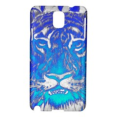 Background Fabric With Tiger Head Pattern Samsung Galaxy Note 3 N9005 Hardshell Case
